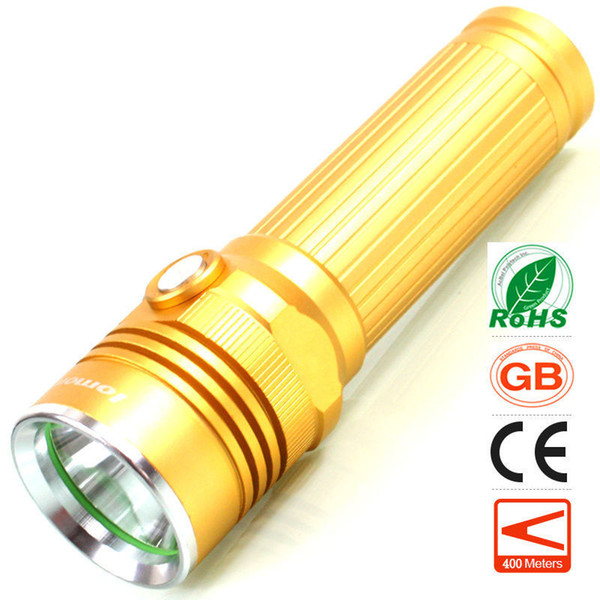 Rechargeable LED Flashlight 5 Modes CREE T6 High Power Super Bright Torch Cycling Hunting Hiking Camping Fishing Outdoor Sports Flash Light