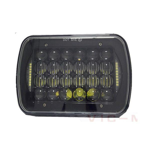 best selling 5x7 inch headlight 72w DRL led headlights for Jeep Wrangler YJ Cherokee XJ Comanche 4x4 5D Trucks