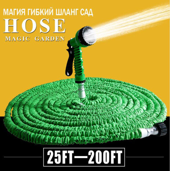 top popular Hot Selling 25FT-200FT Garden Hose Expandable Magic Flexible Water Hose EU Hose Plastic Hoses Pipe With Spray Gun To Watering 2019