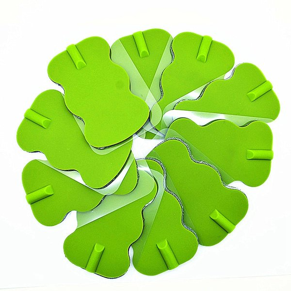10pcs Green Electrode Pads for Digital EMS Tens Acupuncture Muscle Exercise Therapy Machine Cervical Vertebra Physiotherapy Massager
