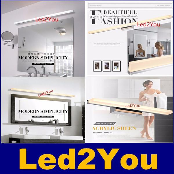Compre Diodo Emissor De Luz Espelho Banheiro Moderno Banheiro Led Lâmpada De Parede 100 240v Led Arandela De Parede à Prova D água Luz De Parede