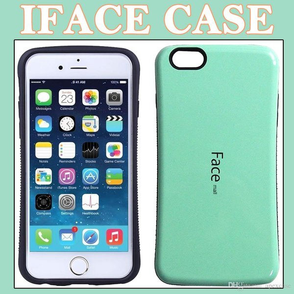 For iPhone7 7 Plus samsung iface Hybrid 2 in 1 iface Hard Rubber Case Free DHL Shipping