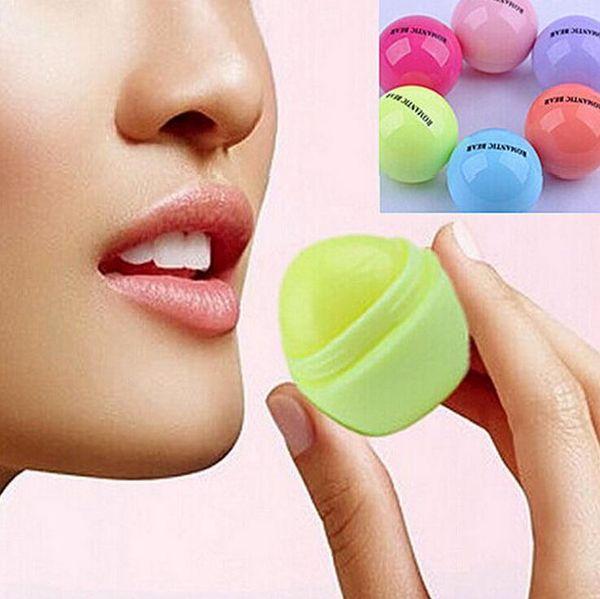 best selling 3D Lipstick New Makeup Round Ball Moisturizing lip balm Natural Plant Sphere lip Pomade Fruit Embellish lip Care