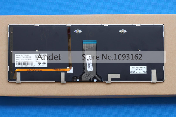 Genuine Lenovo Y410P Backlit Keyboard 25205378 25205514 25205515 NICE
