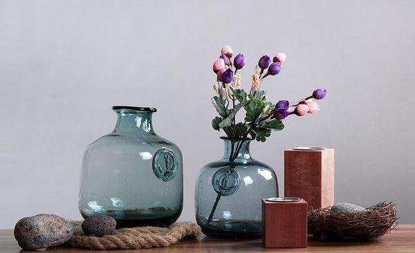 Wholesale Handmade Colorful Glass Vase For Houseware Decoration Soda