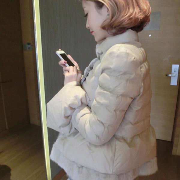 Wholesale-2016 Kore uzun kollu sıcak ışık aşağı kadınlar için yastıklı kış ceket kadın parkas kış ceket kadınlar
