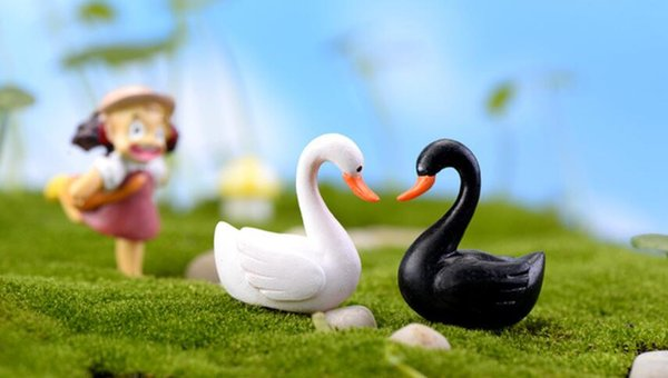 Mini Garden Swan for Miniature Fairy Garden Home Houses Decoration Mini Craft Micro Landscaping Decor DIY Accessories