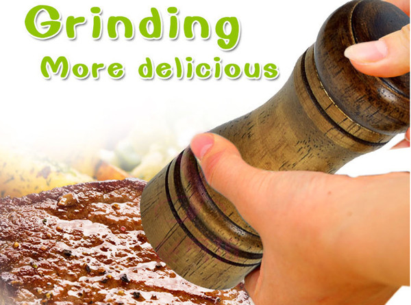 Madera Cruet Pepper Mill Condiment Cocina Grinding Salt Gourmet Shaker Machine