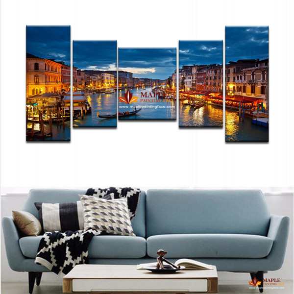 Free Shipping 5 Panels HD Canvas Print home decor wall art painting Scenery Picture Modern abstract Oil Painting Printed On Canvas
