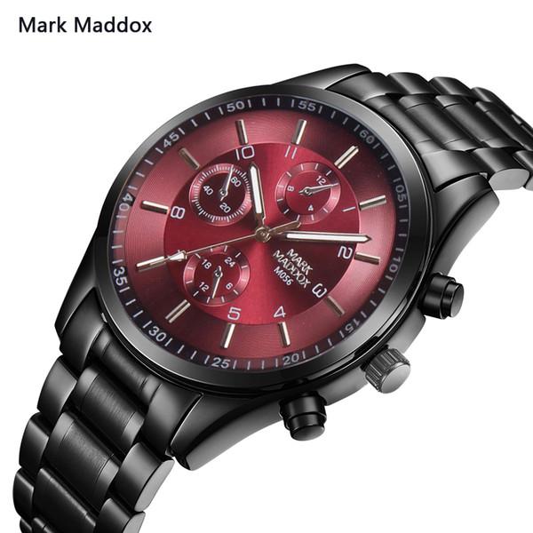 Mark maddox Marca relojes hombres 2017 Marca de fábrica Ganador de acero inoxidable auto viento mecánico automático reloj de los hombres reloj deportivo reloj