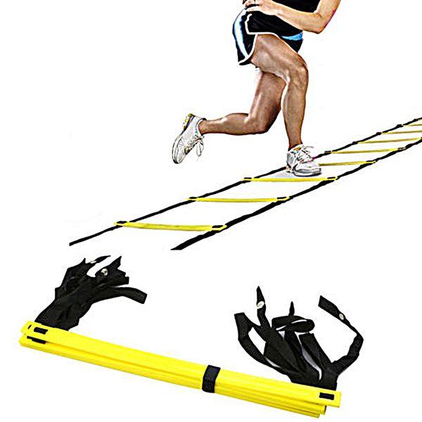 Escalera durable de la agilidad del peldaño 9 para el equipo de entrenamiento de la velocidad del fútbol del fútbol Equipos deportivos de la aptitud de los deportes al aire libre de 5 metros 2507003