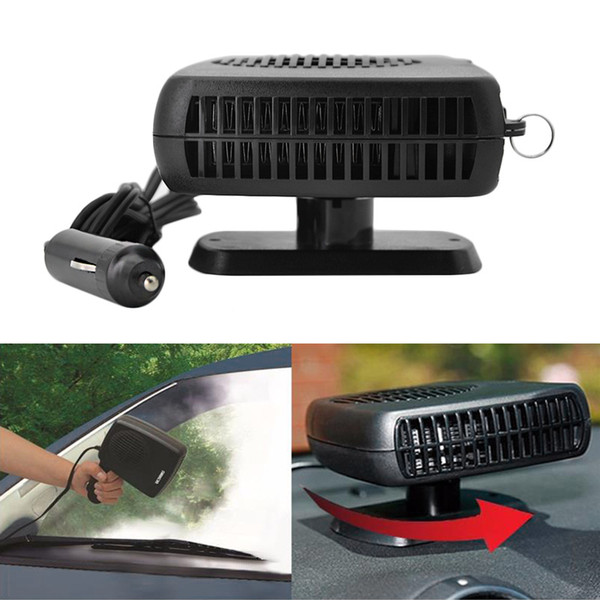 Portable 12V 150W Auto Car Fan Defroster Demister with Swing-out Handle Driving Enthusiasts Car-Styling Car Heater Heating Fan
