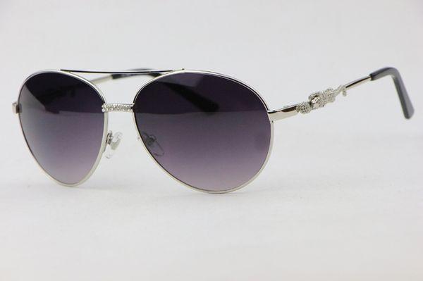 bdb3530aaa114 Oval armação de metal moda Óculos de Sol das Mulheres 8200884 Confortável  elegante óculos Gradiente lentes
