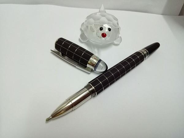 Hohe Qualität Beste Design luxus Kristall kopf schwarz raster MB roller stift für schooloffice beste geschenk