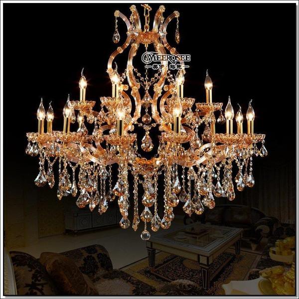 Hohe Qualität Maria Theresa Kristallleuchter Licht Große Hängende  Kristalllampe Big Bernstein Leuchter Licht Prompt Versand