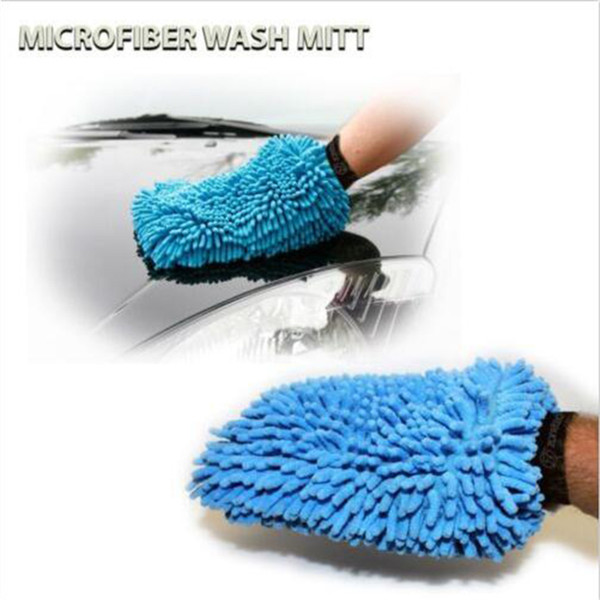Wholesale- 2017 New 1 pcs Super Mitt Microfiber Household Car Wash Washing Cleaning Gloves Car Washer Anti Scratch Wholesale