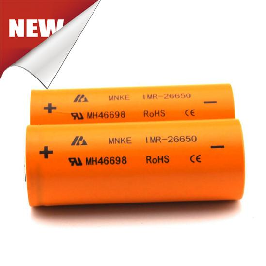 Newest Product MNKE 26650 Flashlight Battery 3.7V 3500mAh High Capacity Rechargeable Li-ion Battery Fit LED Flashligh Vaporizer Mods Fedex S