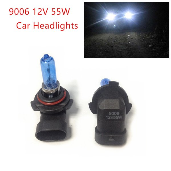 New 2pcs 12V 55W 9006 Ultra-white Xenon HID Halogen Auto Car Headlights Bulbs Lamp Auto Parts Car Light Source Accessories