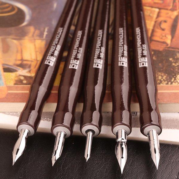 Japen Great Master Dip Pen Stylo plume Bandes dessinées professionnelles Bandes dessinées Dip Pen 5Shaft 5Nib Set