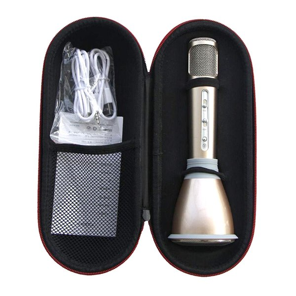 K068 Wireless bluetooth Microphone microfone with Mic Speaker Condenser Mini Karaoke Player KTV Singing Record for iphone samsung cellphone