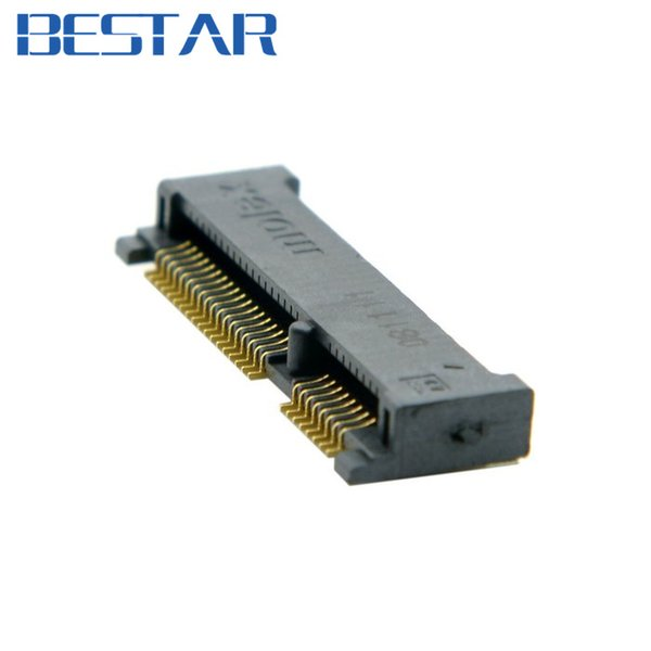 All'ingrosso- Mini PCI-E pci express pcie mSATA 52pin 4.0mm Altezza presa femmina connettore presa Adattatore SMT per SSD