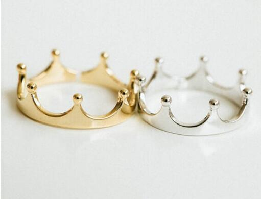 Fashion 18k gold plated rings noble small crown rings for women Wholesale Free shipping