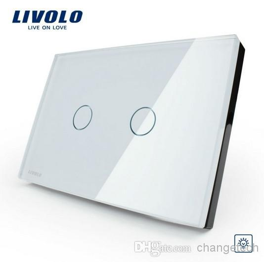 Livolo Ivory White Crystal Glass Panel, US/AU standard, VL-C302D-81,Dimmer Touch Home Wall Light Switch