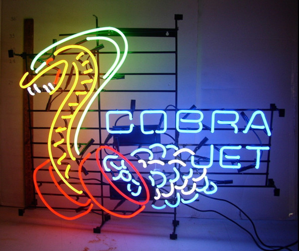 "Cobra Jet Snake Neon Sign Custom Handmade Commercial Real Glass Tube Mustang Racing Cars Game Store Display Advertising Neon Signs 24""X20"""