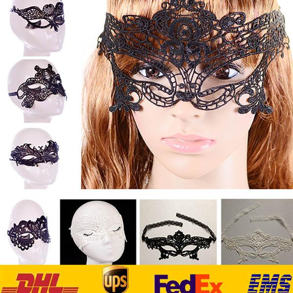Seksi Dantel Parti Maskeleri Yeni Kadınlar Bayanlar Kızlar Cadılar Bayramı Noel Cosplay Kostüm Masquerade Dans Sevgililer Yarım Yüz Maskesi HH-M01