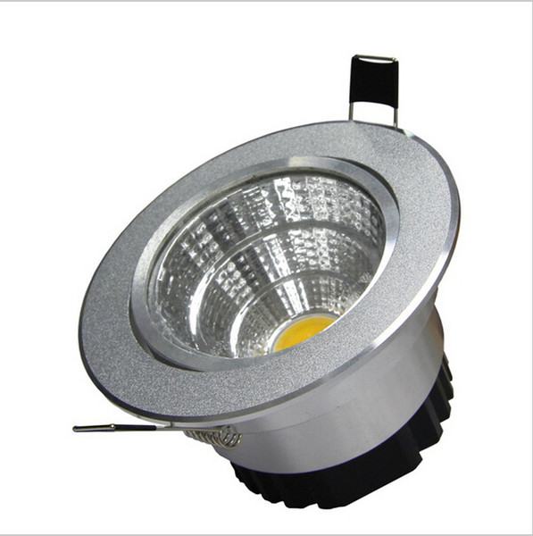 Plata Ultra hermosa Dimmable LED COB Downlight AC110V 220V 6W / 9W / 12W / 15W Empotrada LED Spot Luz Decoración Lámpara de techo