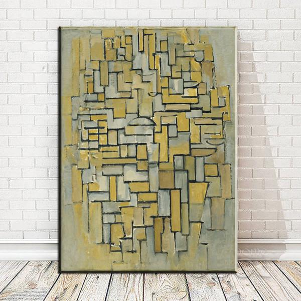 ZZ1981 lienzo de arte abstracto moderno marrón y gris composición impresiones de la lona arte pintura al óleo para la decoración del dormitorio sala de estar