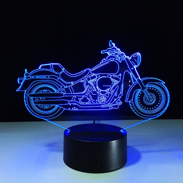 Illusionslampe des Motorrad-3D buntes Licht 3D DC USB trieb 5. Batterie-Stauraum Dropshipping Kleinkasten schnelles Verschiffen an
