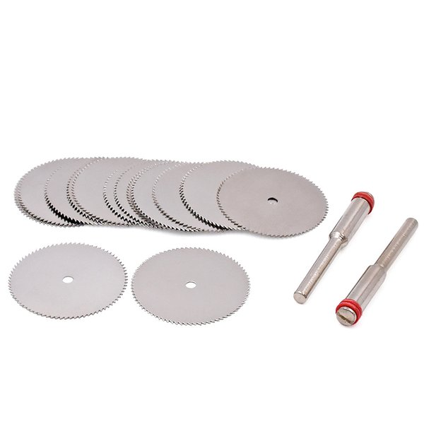 Cutting Discs Rotary Tools Cutting wheel for Dremel Tools Accessories 10pcs dremel Discs with 2pcs Mandrels 22/25/32mm