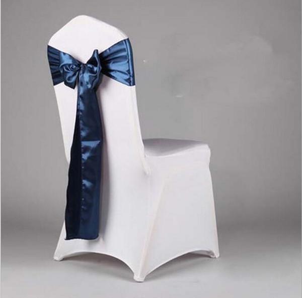 wholesale Fancy colorful satin chairs sash wedding chair sashes banquet chair sashes Bowknot sofa cover ribbon sash free shipping