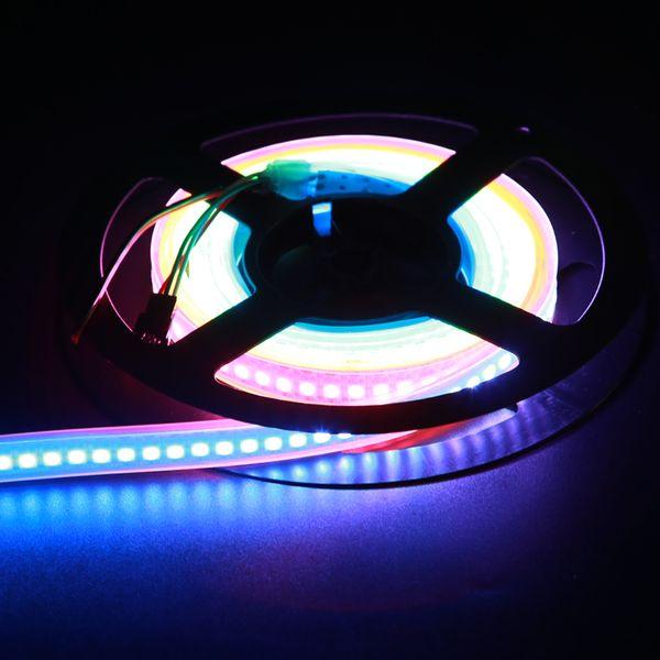 Digital RGB 144pixels/m ws2812b flexible led strip ws2812 led strips rgb led tape 5050 smd ws2811 pixel light dc5v white pcb waterproof IP67