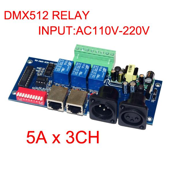 2019 2015 New Best Price DMX 512 Relay 5A*3CH Controller DMX RELAY 3channel  Input AC110v 220V Led Decoder DMX Controller From Strawberryangel, $233 17