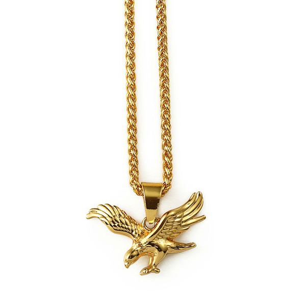2016 new necklace gold eagle pendant necklace 18k real gold 2016 new necklace gold eagle pendant necklace 18k real gold planted necklaces link chain statement necklace aloadofball