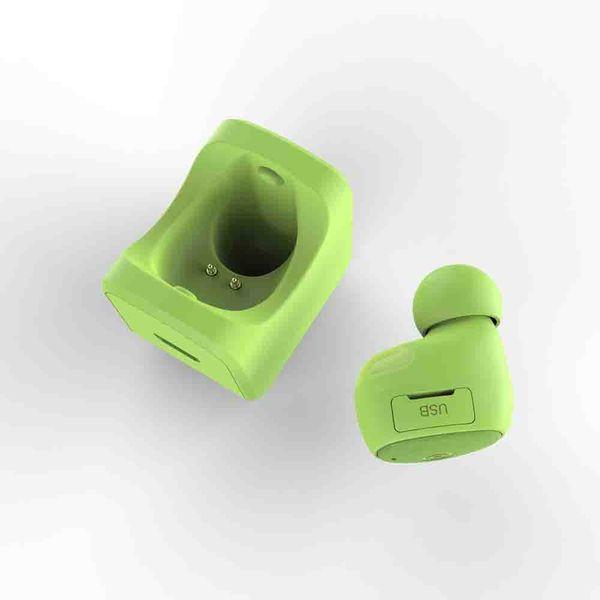 Venta al por mayor de Moda Mini Auriculares Mono Bluetooth Auriculares viene con soporte con titular de encanto para su propio regalo de Navidad