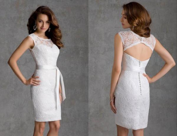 Großhandel New Vintage Short White Brautjungfer Kleid Plus Size ...
