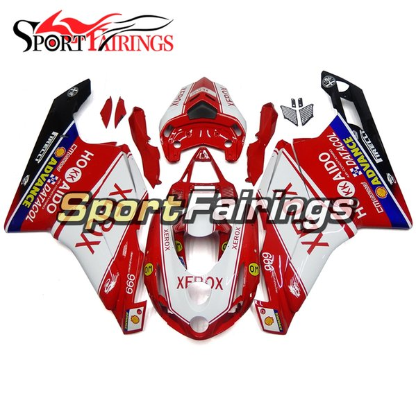 Einspritzungs-Verkleidungen für Ducati 999 749 Jahr 03 04 2003 2004 ABS Plastikmotorrad-Verkleidungs-Kit Bodywork-Motorrad-Verkleidungen rot weiß