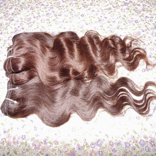 Dyed Light Brown Human Hair Extension 7A grade Peruvian Body wavy 5pcs/lot Soft Silky Texture Sexy Lady Beauty Shopping Cart Stock