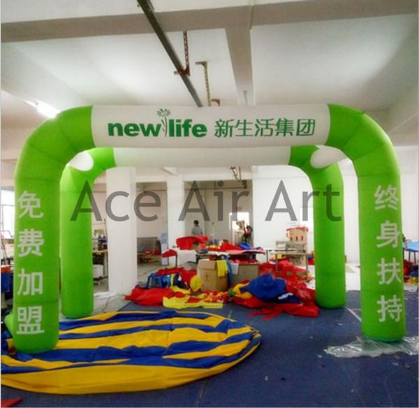 livre para imprimir publicidade logotipo top quality arco inflável tenda para venda com ventilador de ar livre