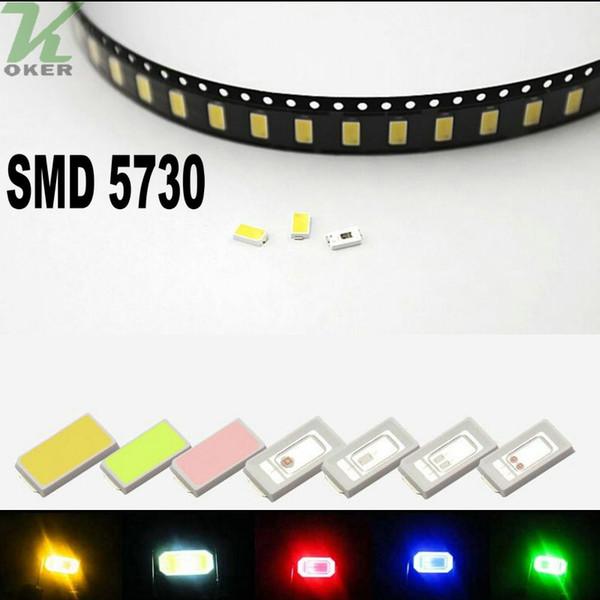 1000PCS / lot 0.2W SMD 5730 5630 Blanco Rojo Azul Verde amarillo LED Diodos de la lámpara Ultra Brillante SMD 5730 5630 SMD LED Envío gratis
