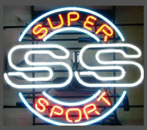 "Super Sport SS Neon Sign Custom Handmade Real Glass Tube Game Room Racing Car Company Store Bar Advertisement Display Neon Signs 19""X15"""