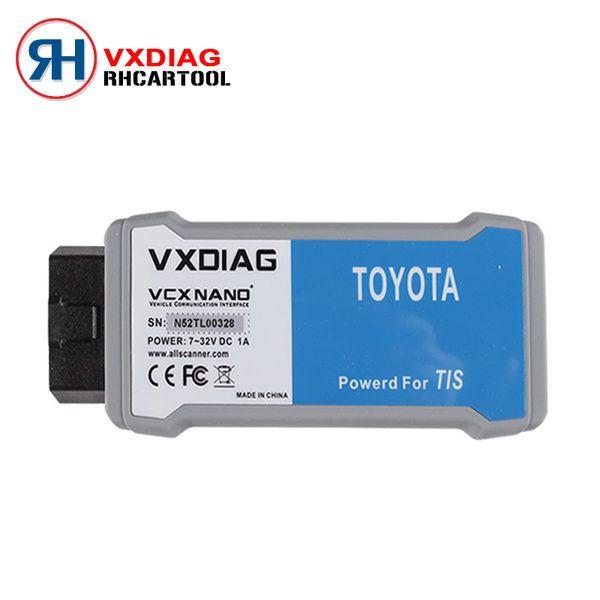 All'ingrosso-VXDIAG VCX NANO per TIS Techstream V10.10.018 Compatibile con SAE J2534 VXDIAG per Techstream Scan Tool Libera nave