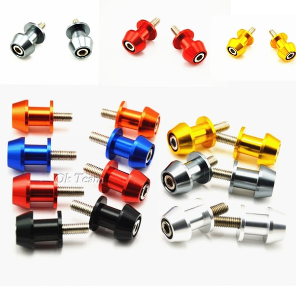 best selling 2016 HOT ! 8mm Universal Motorcycle CNC Aluminum Swingarm Spools Slider Stands Screws Free Shipping