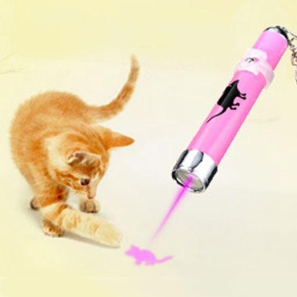 Yeni sıcak Yaratıcı ve Komik Pet Kedi Oyuncaklar Parlak Animasyon Ile LED Lazer Pointer işık Kalem Fare