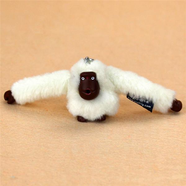 best selling Fashion 3D Plush Doll Monkey Pendant Keychain For Handbag Messenger Bag Purse Orangutan Plush Toy Animal Keyring Accessory