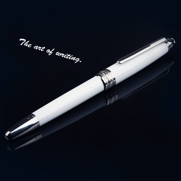 White Resin Pen Brand Roller Pens School Supplies Luxury Writing Tools Laser Rollerball Pens 163-Stationery Original Box Set