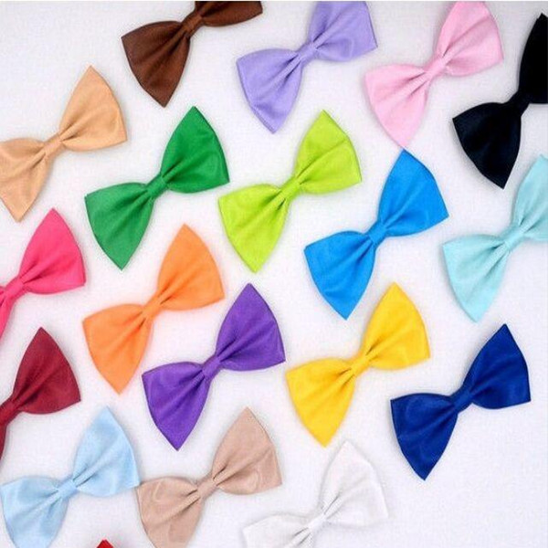 men's Bow tie 25 colors 12*6cm Adjust the buckle solid color bowknot Occupational bowtie for Father's Day tie Christmas Gift